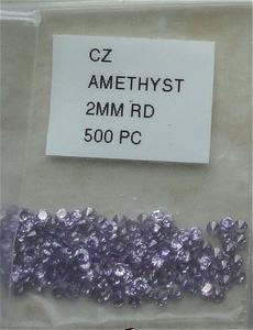 Cubic zirconia Ø 2 mm amethyst