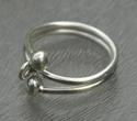 Zilveren ring met oogje