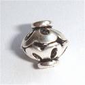 Zilveren kraal bicone balistijl
