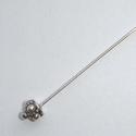 Zilveren headpins met kroontje, 7 cm-Ø 0,8 mm