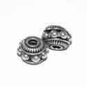 Zilveren kraal met spiraaltjes en grote noppen