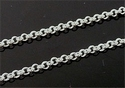 Silver plated jasseron, roll on chain 2 mm, 50 cm